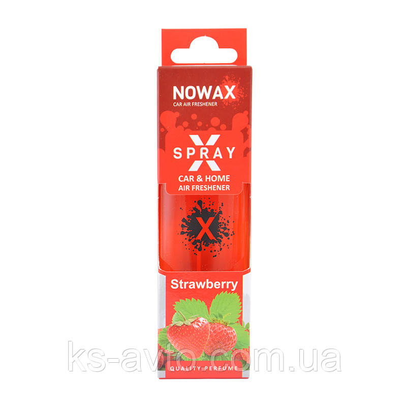 "Освежитель X Spray ""Strawberry"" NOWAX"