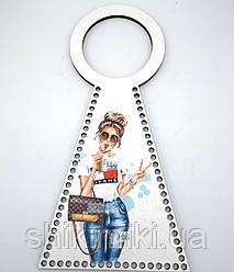 "Каркас для сумки ""Девочка Jeans"", из фанеры"