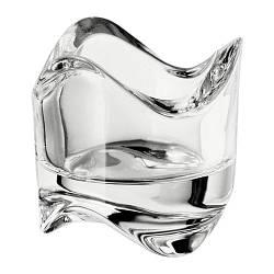 ИКЕА (IKEA) ВЭСНАС, 602.590.96, Подсвечник для греющей свечи, прозрачное стекло, 6 см - ТОП ПРОДАЖ
