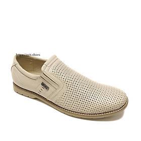 Мужские летние кожаные туфли Karat