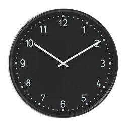 ИКЕА (IKEA) БУНДИС, 701.524.67, Часы, черный - ТОП ПРОДАЖ