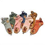 Женские короткие однотонные носки с собачками, фото 3