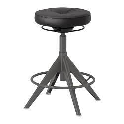 ИКЕА (IKEA) TROLLBERGET, 803.793.47, Табурет для сидения / стояния, Глосе черный - ТОП ПРОДАЖ