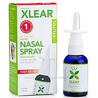 Xlear, Солевой назальный спрей с ксилитолом, быстрого действия, 45 мл