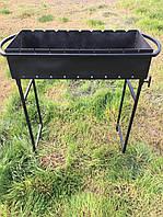 Мангал 9 шампуров 3 мм. 17 кг, со съемными ножками
