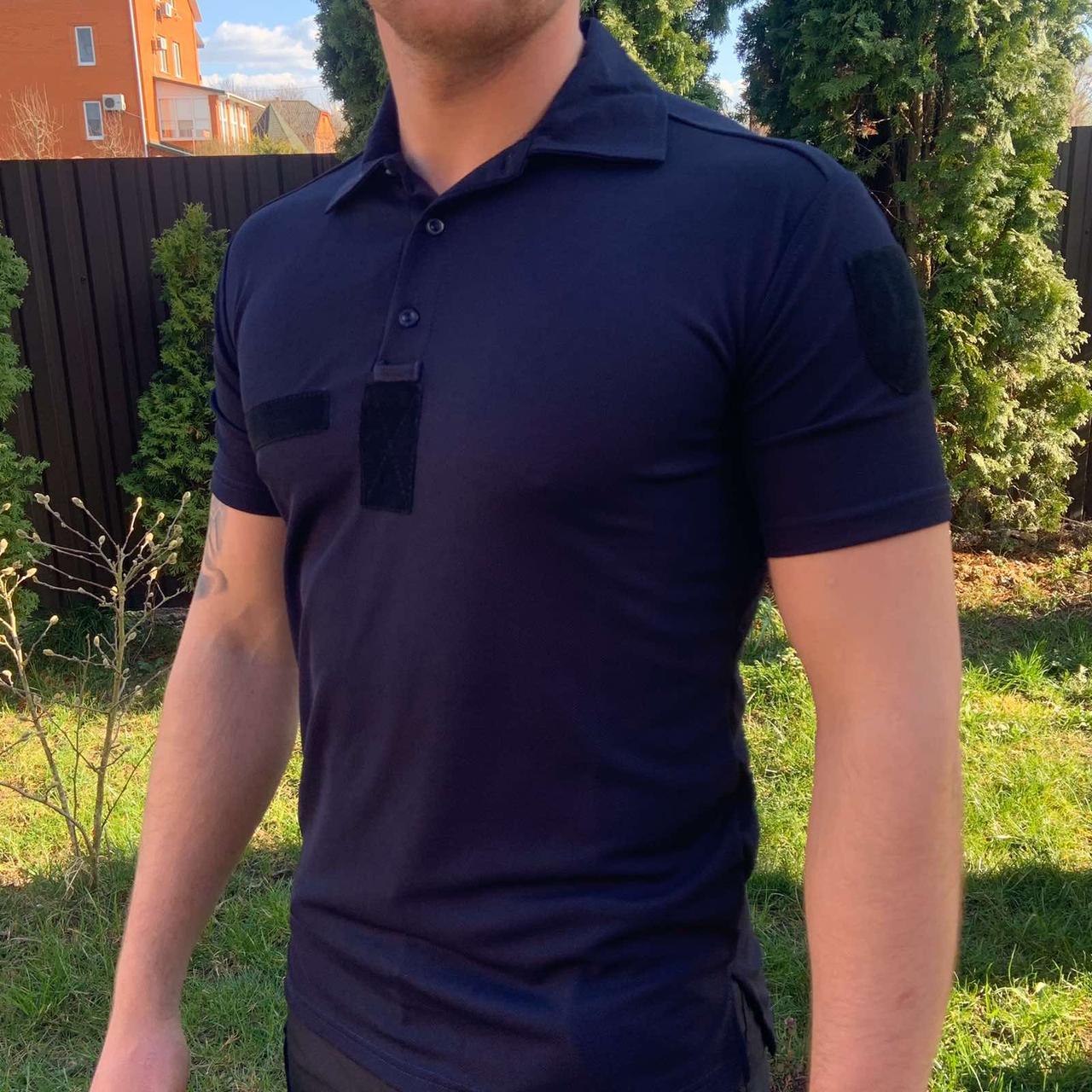 ФУТБОЛКА ПОЛО COOLPASS ТЕМНО-СИНЯЯ