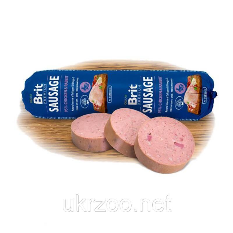 Корм Брит премиум Brit Premium Dog Sausage 800г колбаса с курицей и кроликом