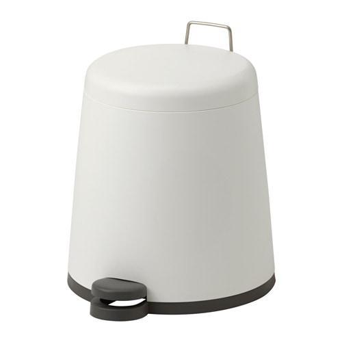 ИКЕА (IKEA) СНЭПП, 002.454.27, Ведро с откидной крышкой, белый, 5 л - ТОП ПРОДАЖ