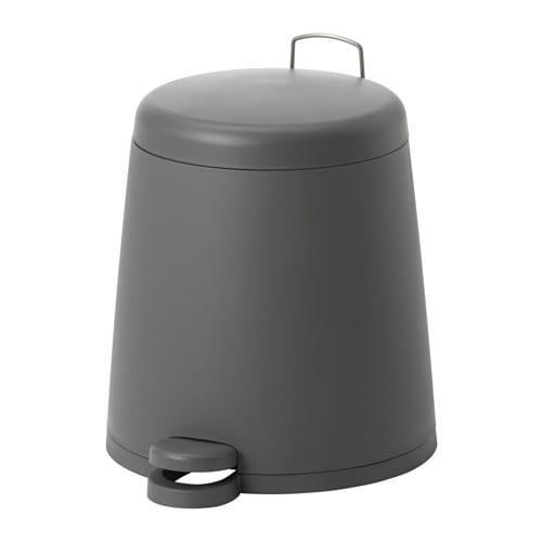 ИКЕА (IKEA) СНЭПП, 302.454.21, Ведро с откидной крышкой, серый, 5 л - ТОП ПРОДАЖ