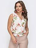 Базовая блузка без рукавов с оборкой по низу ЛЕТО, фото 5