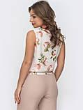 Базовая блузка без рукавов с оборкой по низу ЛЕТО, фото 7