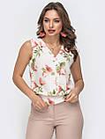 Базовая блузка без рукавов с оборкой по низу ЛЕТО, фото 6
