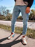 Джинсы - мужские голубые джинсы широкие бойфренды, фото 3
