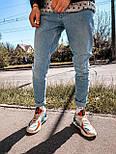 Джинсы - мужские голубые джинсы широкие бойфренды, фото 2