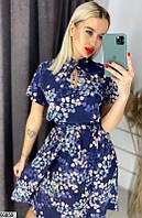 Платье женское летнее легкое софт повседневного стиля размер 42-46 универсальный,цвет синий
