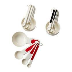 ИКЕА (IKEA) СТЭМ, 102.332.59, Мерные емкости,4 штуки, красный, белый/черный - ТОП ПРОДАЖ