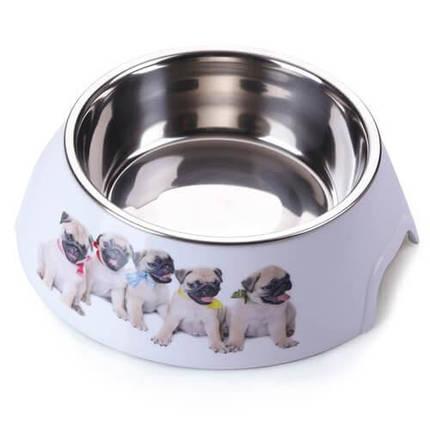 Пластиковая миска AnimAll с металлической вставкой для собак, 700 мл, фото 2