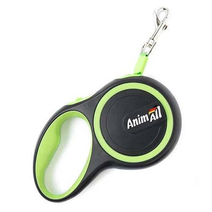 Рулетка поводок AnimAll для собак до 25 кг, салатовий, фото 2