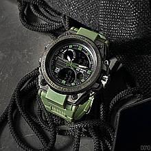 Часы наручные Sanda 739 Green-Black