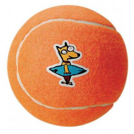 Игрушка Молекула для собак теннисный мяч 6.5 оранжевый, фото 2