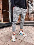 Чоловічі спортивні штани сірі брючний стиль, фото 3