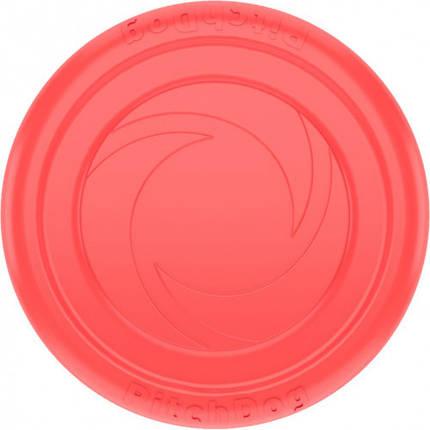 Игровая тарелка PitchDog для апортировки, розовая, диаметр - 22 см, фото 2
