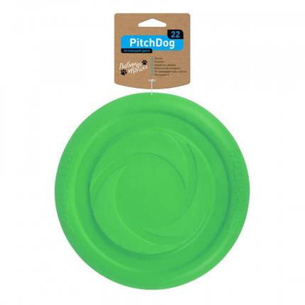 Ігрова тарілка PitchDog для апортировки, салатова, діаметр - 22 см, фото 2
