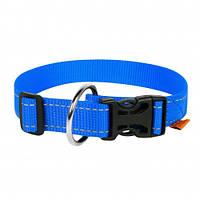Нейлоновый ошейник Dog Extreme для собак, регулируемый, 20 мм, 25-40 см, голубой