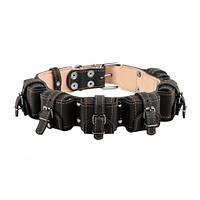 Ошейник с утяжелителями для собак 45 мм, 49-58 см, черный