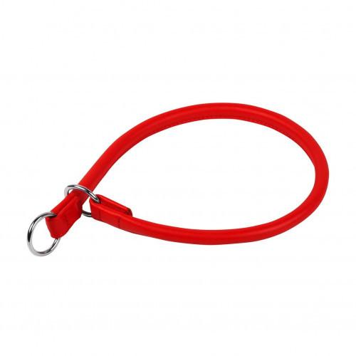 Нашийник-зашморг Waudog Glamour для собак, ривкових, 8 мм, 40 см, червоний