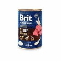 Корм Брит премиум для собак Brit Premium by Nature 400 г говядина с требухой