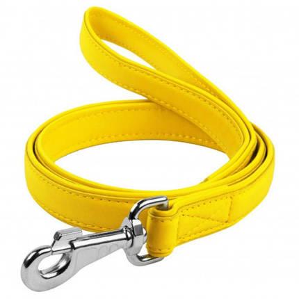 Поводок Waudog Classic для собак 18 мм, 122 см, желтый, фото 2