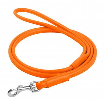 Поводок круглый Waudog Glamour для собак 10 мм, 183 см, оранжевый, фото 2