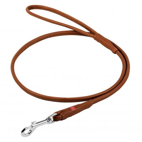 Повідець круглий Waudog Soft для собак 4 мм, 122 см, коричневий