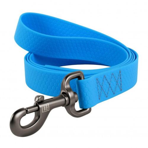 Поводок Waudog Waterproof для собак, водостойкий, 15 мм, 122 см, голубой