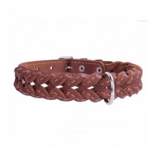 Поводок плетеный двойная коса для собак 14 мм, 122 см, розовый