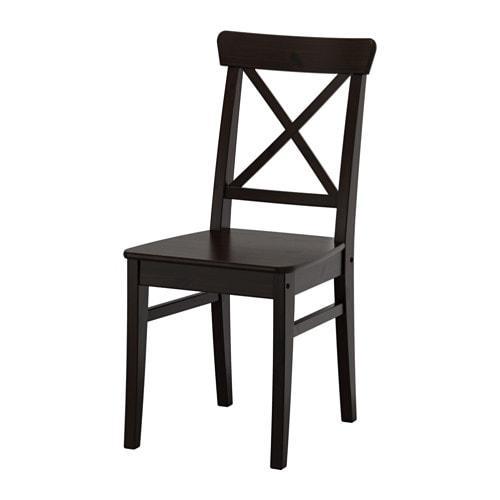 ИКЕА (IKEA) ИНГОЛЬФ, 602.178.22, Кресло, коричнево-чёрный - ТОП ПРОДАЖ