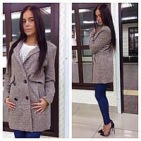 Женское модное шерстяное пальто