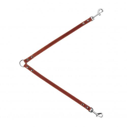 Поводок Сворка для собак 10 мм, 40 см, коричневый