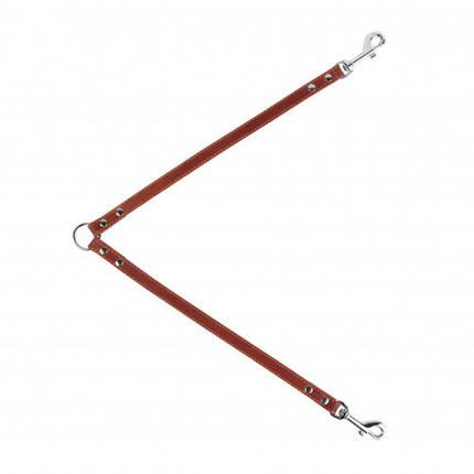 Поводок Сворка для собак 10 мм, 40 см, коричневый, фото 2