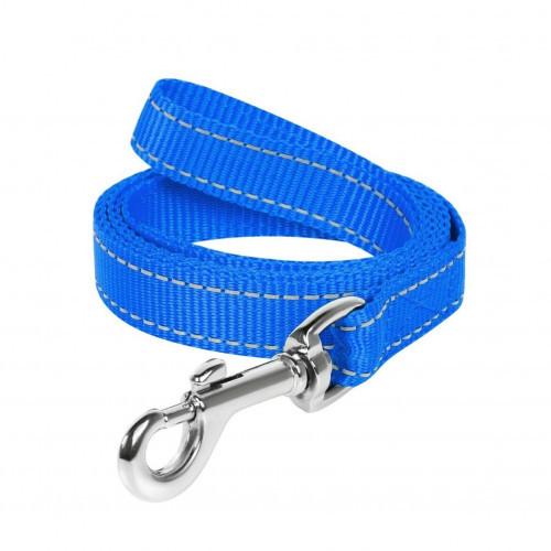 Повідець нейлоновий Dog Extreme для собак 20 мм, 150 см, блакитний