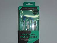 Наушники Enjoy the music world с микрофоном, аксессуары для телефона, аксессуар для копмьютера, наушники, фото 1