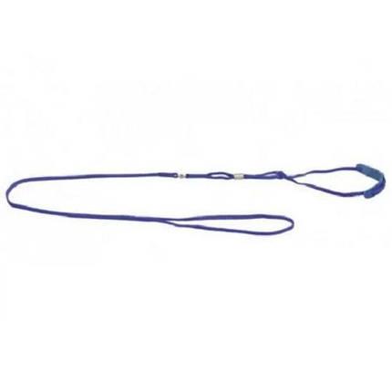 Ринговка з шкіряною вставкою та стразами Dog Extreme для собак 5 мм, 130 см, блакитний, фото 2