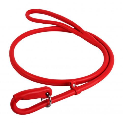 Повідець-зашморг Waudog Glamour круглий для собак 13 мм, 183 см, червоний