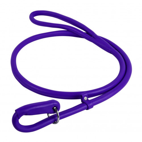 Поводок-удавка Waudog Glamour круглый для собак 13 мм, 183 см, фиолетовый