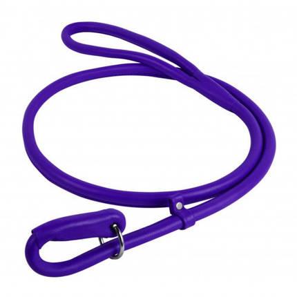 Повідець-зашморг Waudog Glamour круглий для собак 13 мм, 183 см, фіолетовий, фото 2