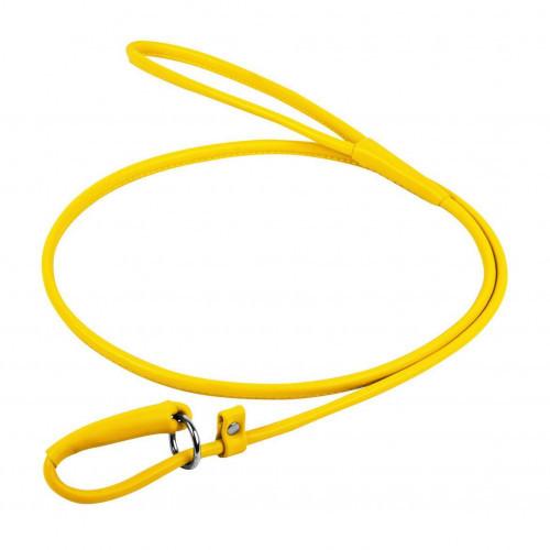 Повідець-зашморг Waudog Glamour круглий для собак 4 мм, 135 см, жовтий