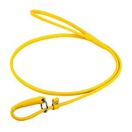 Повідець-зашморг Waudog Glamour круглий для собак 4 мм, 135 см, жовтий, фото 2
