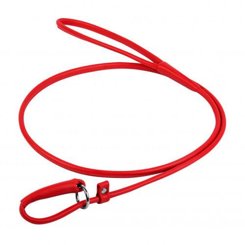 Повідець-зашморг Waudog Glamour круглий для собак 6 мм, 183 см, червоний