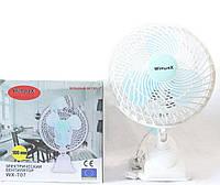 Вентилятор настольный Wimpex WX-707 на прищепке. Портативный офисный вентилятор, фото 1